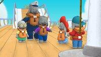 Ella, Belinda, Tiki und Frankie begleiten Ellas Papa auf seinem Schiff.