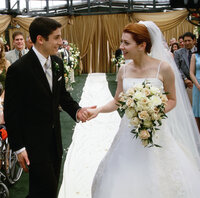 Jim (Jason Biggs, l.) will seine große Liebe Michelle (Alyson Hannigan, r.) ehelichen ...