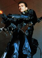 Der Original-Terminator (Arnold Schwarzenegger), ein Typ aus der alten Baureihe T-800 und programmiert zu bedingungsloser Verteidigung, wird durch den Zeittunnel in das Jahr 1994 geschickt. Er soll den 10-jährigen John Connor beschützen.