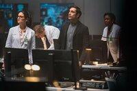 Jenny Slate (Dr. Dora Skirth), Riz Ahmed (Dr. Carlton Drake).