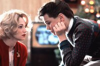 Caroline Wolff (Ellen Barkin, l.); Toby Wolff (Leonardo DiCaprio, r.)