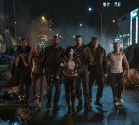 (v.l.n.r.) George Harkness / Captain Boomerang (Jai Courtney); Harley Quinn (Margot Robbie); Deadshot (Will Smith); Katana (Karen Fukuhara); Rick Flag (Joel Kinnaman); Killer Croc (Adewale Akinnuoye-Agbaje); Diablo (Jay Hernandez)