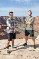 Tim Warwood (l.) und Adam Gendle in Utah, USA.