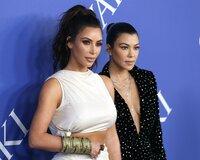 L-R:  Kim Kardashian West and Kourtney Kardashian