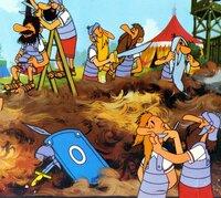 """""""Asterix, der Gallier"""", Im Jahre 50 v. Chr. haben die Römer ganz Gallien besetzt. Nur ein kleines Dorf im Norden leistet hartnäckig Widerstand. Allen voran kämpfen der schlaue Asterix und sein bärenstarker Freund Obelix leidenschaftlich gegen die Römer. Denn ein mysteriöser Zaubertrank verleiht den Galliern außergewöhnliche Kräfte. Als die Römer das Geheimnis des Trankes ergründen wollen, erleben sie ihr blaues Wunder.  SENDUNG: ORF eins - SA - 26.10.2019 - 11:20 UHR. - Veroeffentlichung fuer Pressezwecke honorarfrei ausschliesslich im Zusammenhang mit oben genannter Sendung oder Veranstaltung des ORF bei Urhebernennung."""