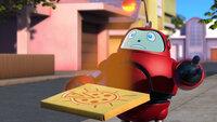 Gizmo will in den Park, Pizza essen