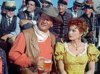 Der Rancher McLintock (John Wayne) versteht es immer wieder, seine von ihm getrennt lebende Frau Katherine (Maureen O'Hara) mit deftigen Sprüchen zu provozieren.