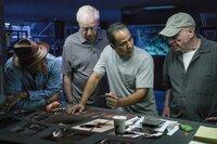 (v.l.n.r.) Willie Davis (Morgan Freeman); Joe Harding (Michael Caine); Jesus (John Ortiz); Albert Garner (Alan Arkin)