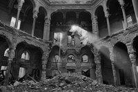 Nationalbibliothek Sarajevo im August 1992 zerstört.