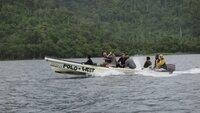 Team on boat.