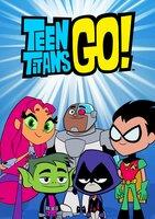 L-R: Starfire, Beast Boy, Cyborg, Raven, Robin