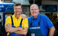 Die Autodoktoren: Hans-Jürgen Faul (r.) und Holger Parsch