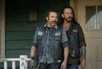 """L-R: Michael Irby as Obispo """"Bishop"""" Losa and Raoul Max Trujillo as Che """"Taza"""" Romero"""