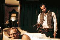 Duell am Missouri Marlon Brando als Lee Clayton, Jack Nicholson als Tom Logan SRF/Metro-Goldwyn-Mayer Studios Inc.
