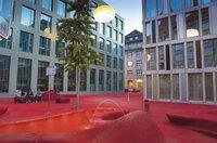 Die Rote Stadtlounge in Sankt Gallen.