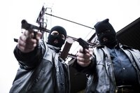 REENACTMENT: New York, NY, USA: Two masked gunmen of the mob.