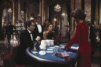 L-R: James Bond (Timothy Dalton), Kwang (Cary-Hiroyuki Tagawa), Loti (Diane Hsu), Pam Bouvier (Carey Lowell), Lupe Lamora (Talisa Soto).