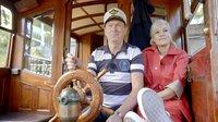 Ina und Bootsführer Pjotr