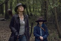 L-R: Maggie Rhee (Lauren Cohan) and Judith Grimes (Cailey Fleming)
