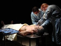 RECREATION: Hughes autopsy scene.