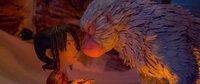 Kubo und seine Mutter verbindet ein unzertrennliches Band. In Gestalt des Schneeaffen Monkeys begleitet sie ihn auf seinem Abenteuer.