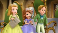 """SOFIA THE FIRST - """"Two Princesses and a Baby"""" - Amber realizes how much her royal twin really means to her after a spell that is supposed to give her and twin James separate birthdays accidentally turns him into a baby.ÊThis episode of """"Sofia the First"""" airs Friday, March 7 (9:30 a.m., ET/PT) on Disney Channel. (Image by Disney Junior via Getty Images) PRINCESS AMBER, PRINCESS SOFIA, PRINCE JAMES"""