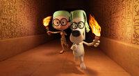 Im Alten Ägypten treffen Mr. Peabody (r.), der eine Zeitmaschine erfunden hat, und sein Adoptivsohn Sherman (l.) auf Tutanchamun und werden sogar für Götter gehalten, denn mit dem erfinderischen und hochintelligenten Hund Peabody als Vater wird es nie langweilig ...