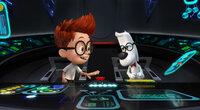 Der hochintelligente Hund Mr. Peabody (r.) hat es geschafft, eine Zeitmaschine zu erfinden, mit der er zusammen mit seinem Adoptivsohn Sherman (l.) durch die Vergangenheit reist und so manche wichtige Persönlichkeiten kennenlernt ...