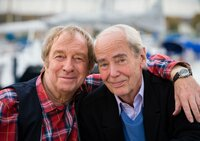 MDR Fernsehen DIE LETZTEN MILLIONEN, am Samstag (21.03.15) um 22:30 Uhr. Seit vielen Jahren ein glückliches Paar: Jakob (Ulrich Pleitgen, li.) und Otto (Joachim Bliese, re.).