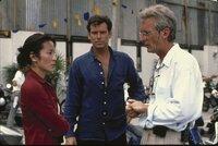 L-R: Michelle Yeoh, Pierce Brosnan, Roger Spottiswoode