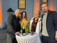 V.l.: Frank Buschmann, Ekatarina Leonova, Janine Kunze und Bastian Bielendorfer.
