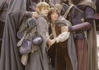 Die Aufgabe, den Ring zu vernichten, wird für Sam (Sean Astin, l.) und Frodo (Elijah Wood, r.) immer schwieriger. Die beiden Hobbits müssen sich nämlich von ihren Gefährten trennen ...