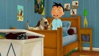Nachts hat Nick den Hund heimlich in sein Zimmer geholt. Am nächsten Morgen gibt es deswegen ein kleines Donnerwetter.