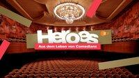 """Logo """"Heroes - Aus dem Leben von Comedians"""""""