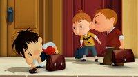 Auf dem Weg zur Schule findet Nick ein Portemonnaie auf dem Gehweg. Nach einer kleinen Diskussion erklärt er sich bereit, das bisschen Kleingeld mit Otto und Chlodwig zu teilen.Â