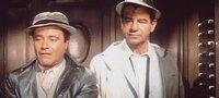 Felix (Jack Lemmon, l.) und Oscar (Walter Matthau, r.) haben sich nichts mehr zu sagen ...
