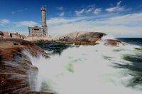 Wahrzeichen des Archipels: der Leuchtturm von Bengtskär im Schärenmeer vor Turku an der finnischen Südküste