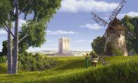 Als die Prinzessin Fiona (l.), Shrek (M.) und der Esel (r.) das protzige Schloss von Lord Farquaad erreichen, ist keiner von ihnen wirklich glücklich darüber, das Ziel ihrer Reise erreicht zu haben ...