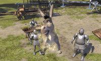 Die Soldaten des Lord Farquaad erhalten den Auftrag, alle Fabelwesen des Landes einzufangen. Doch gegen einen quirligen Esel, der noch dazu wie von Zauberhand in die Lüfte steigt, haben sie kaum eine Chance ...