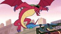 """""""Disneys American Dragon: Jake Long"""", """"Echte wahre Freunde."""" Prof. Rotwood ist im Besitz eines unscharfen Fotos, auf dem Jake in seiner Gestalt als Drache und im Kampf mit Thorn zu sehen ist. Wie es scheint, ist ihm jedes Mittel recht, um an einen eindeutigen Drachenbeweis zu kommen. In dieser gefährlichen Situation kann Jake gut die Hilfe seiner Freunde brauchen, um nicht ans Messer geliefert zu werden."""