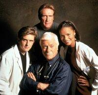 Dr. Jesse Travis (Charlie Schlatter); Steve Sloan (Barry Van Dyke); Dr. Mark Sloan (Dick Van Dyke); Dr. Amanda Bentley (Victoria Rowell)