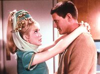 Barbara Eden (Jeannie), Larry Hagman (Anthony Tony Nelson).