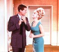 Larry Hagman (Anthony Tony Nelson), Barbara Eden (Jeannie).