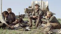 Charley Waite (Kevin Costner), Boss Spearman (Robert Duvall, 2. v. re.), Mose (Abraham Benrubi) und Button (Diego Luna, li.) führen ein einfaches, aber glückliches Cowboy-Leben.