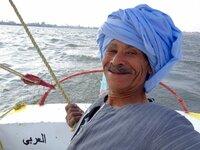 Flussschiffer und Dichter Mamduh Kalaf Ali: Nilschiffer Mamduh begeistert seine Passagiere mit eigenen Gedichten und Liedern.