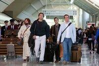 L-R: Alan (Zach Galifianakis), Phil (Bradley Cooper), Doug (Justin Bartha) und Stu (Ed Helms)