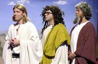 """Die drei Heiligen: Michael """"Bully"""" Herbig (l.), Rick Kavanian (M.) und Christian Tramitz (r.)."""