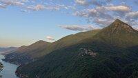 Blick auf Monte Morrisolo am Lago Maggiore.