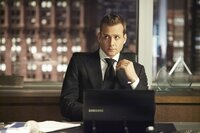 """SUITS -- """"Bad Faith"""" Episode 309 -- Pictured: Gabriel Mact as Harvey Specter -- (Photo by: Ian Watson/USA Network)"""