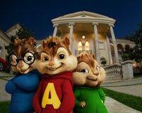Die Streifenhörnchen (v.li.) Simon, Alvin und Theodore geniessen ihren Erfolg als neueste Pop-Sensation.